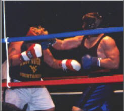 Butch Hiles winning the Golden Gloves Championship