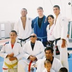 Butch Hiles with the legendary Gracie Family
